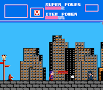 Superman NES screen