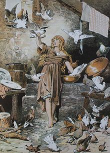 Aschenputtel/Cinderella with the doves that will return later...