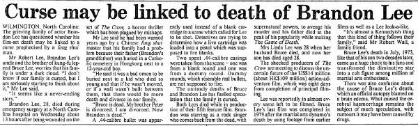 Lee Curse Newspaper