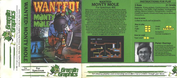 Wanted Monty Mole