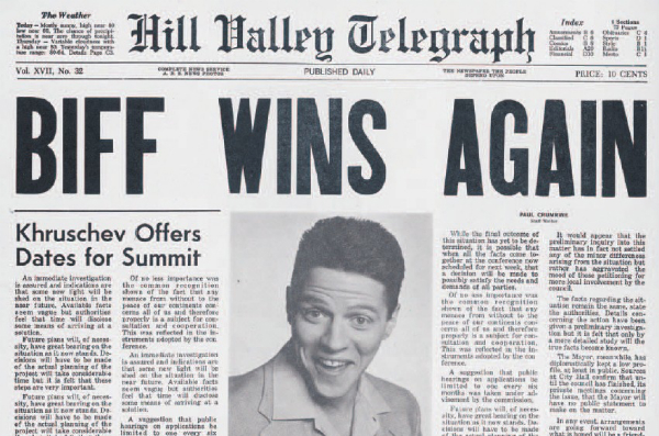 Biff Wins Newspaper
