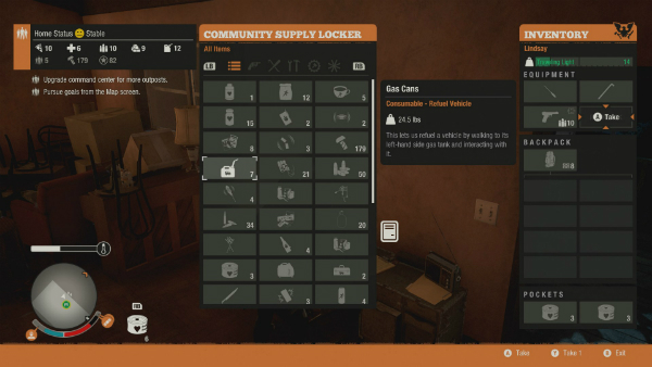 State of Decay 2 menu