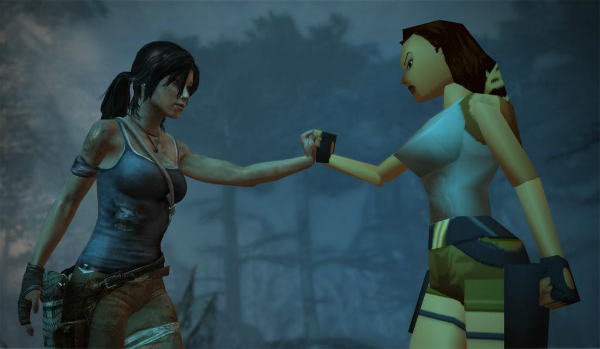 Lara Croft Then and Now