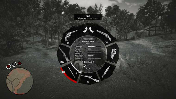 Red Dead Redemption II Weapon Wheel