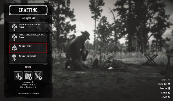 RDR II Crafting