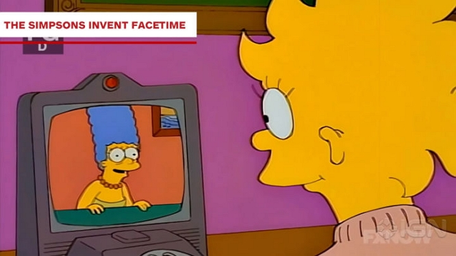 SIMPSONS FACETIME