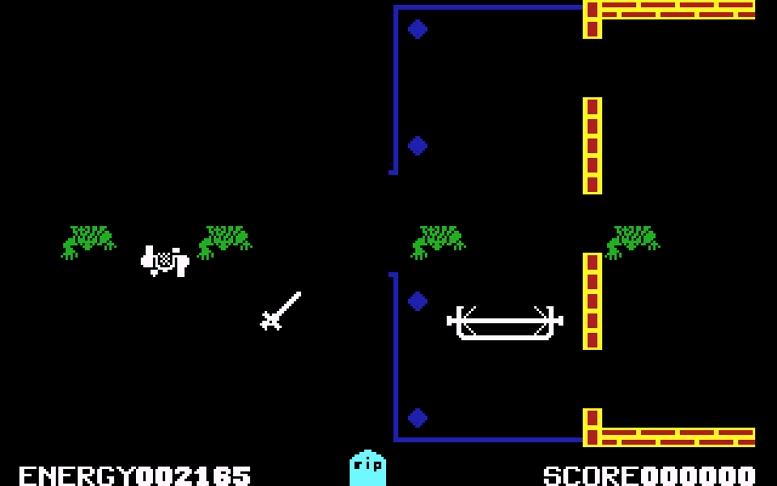 EVIL DEAD C64 SCREEN